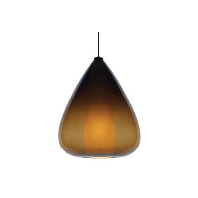 Soleil Grande 1-Light Pendant Finish / Shade / Bulb / Volts: Satin Nickel / Brown / Fluorescent / 120