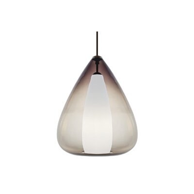Soleil Grande 1-Light Mini Pendant Finish / Shade / Bulb / Volts: Black / Smoke / Incandescent / 120