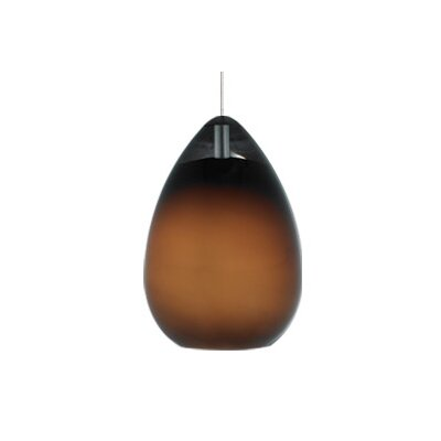 Alina 1-Light FreeJack Pendant Finish: Chrome, Color: Brown, Bulb Type: 1 x 50W Halogen