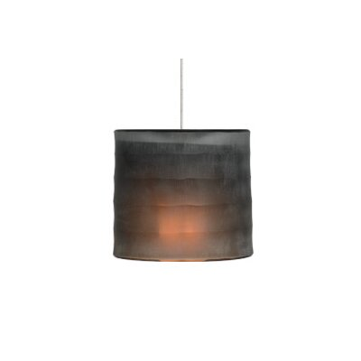 Bali Monopoint 1-Light Mini Pendant Base Finish: Satin Nickel, Shade Color: Dark Brown, Bulb Type: Halogen
