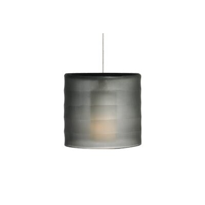 Bali Monopoint 1-Light Mini Pendant Base Finish: Satin Nickel, Shade Color: Smoke, Bulb Type: Halogen