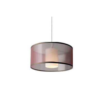 Mini Dillon 1-Light Drum Pendant Finish: Satin Nickel, Color: Brown, Bulb Type: 1 x 50W Halogen