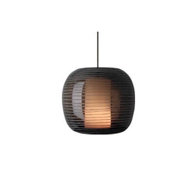 Otto 1-Light Monopoint Pendant Finish: Satin Nickel, Shade: Brown