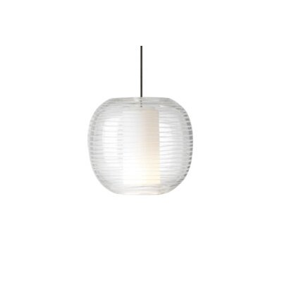 Otto Freejack 1-Light Mini Pendant Finish: Antique Bronze, Color: White / Crystal