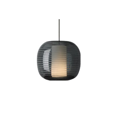 Otto Freejack 1-Light Mini Pendant Finish: Antique Bronze, Color: Gray / Smoke