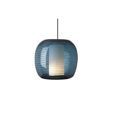 Otto Monopoint 1-Light Mini Pendant Finish: Satin Nickel, Shade: Steel Blue