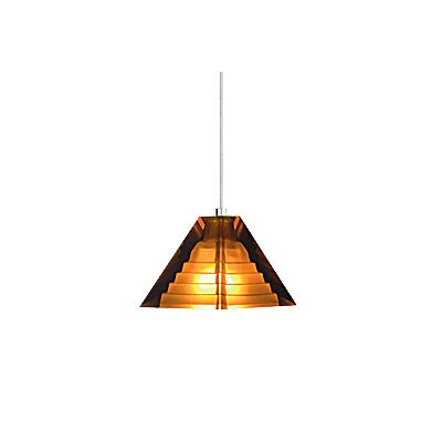 Pyramid 1-Light Mini Pendant Finish: Satin Nickel, Color: Amber