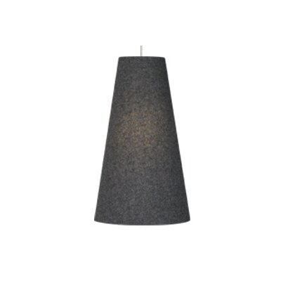 Spire 1-Light Two-Circuit Monorail Pendant Finish: Satin Nickel, Color: Charcoal Gray, Size: Small