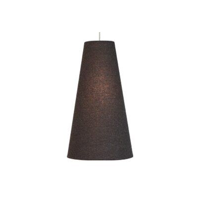 Spire 1-Light Geometric Pendant Finish: Satin Nickel, Shade: Camel