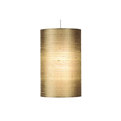 Fab 1-Light Mini Pendant Finish: Satin Nickel, Shade Color: Almond, Bulb Type: 1 x 8W LED