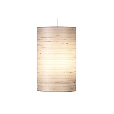 Fab 1-Light Mini Pendant Finish: Satin Nickel, Shade Color: White, Bulb Type: 1 x 50W Halogen