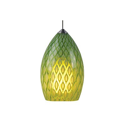 Firebird 1-Light Mini Pendant Finish: Chrome, Shade Color: Parrot (Green)
