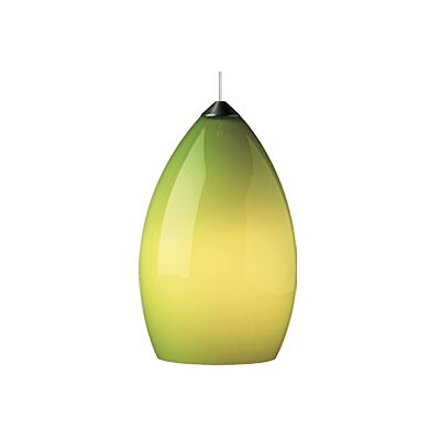 Firefrost 1-Light Mini Pendant Finish: Satin Nickel, Color: Green / Chartreuse