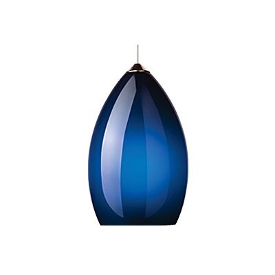 Firefrost 1-Light Mini Pendant Finish: Chrome, Shade Color: Blue / Cobalt