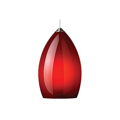 Firefrost 1-Light Mini Pendant Finish: Chrome, Shade Color: Red, Bulb Type: 1 x 8W LED