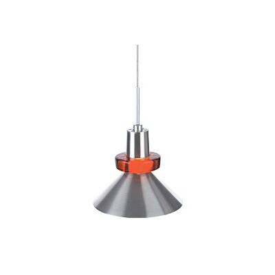 Hanging Wok 1-Light Mini Pendant Finish: Satin Nickel, Color: Red
