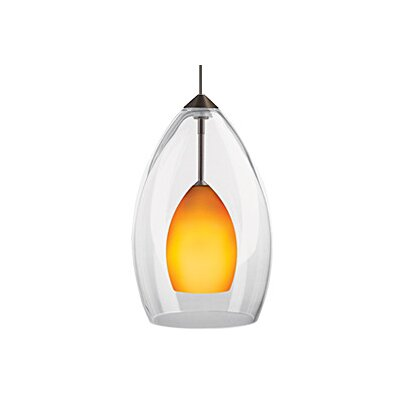 Inner Fire 1-Light Mini Pendant Finish: Chrome, Color: Amber