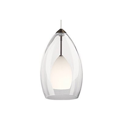 Inner Fire 1-Light Monorail Track Pendant Finish: Antique Bronze, Shade Color: Frost