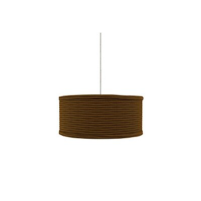 Mini Mulberry 2-Light Drum Pendant Base Finish: Chrome, Shade Color: Brown Wave, Mounting Type: Monorail