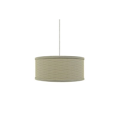 Mini Mulberry 2-Light Drum Pendant Base Finish: Satin Nickel, Shade Color: Light Taupe Wave, Mounting Type: Monorail