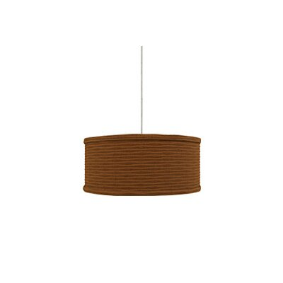 Mini Mulberry 2-Light Drum Pendant Base Finish: Satin Nickel, Shade Color: Rust Wave, Mounting Type: Monorail
