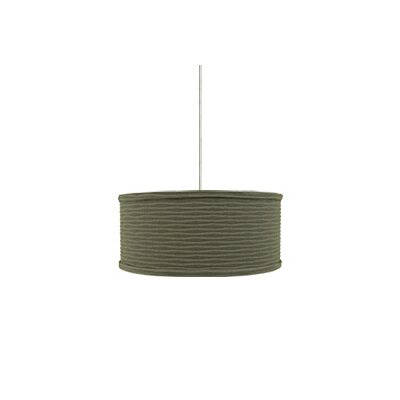 Mini Mulberry 2-Light Drum Pendant Base Finish: Satin Nickel, Shade Color: Sage Wave, Mounting Type: 2 Circuit Monorail