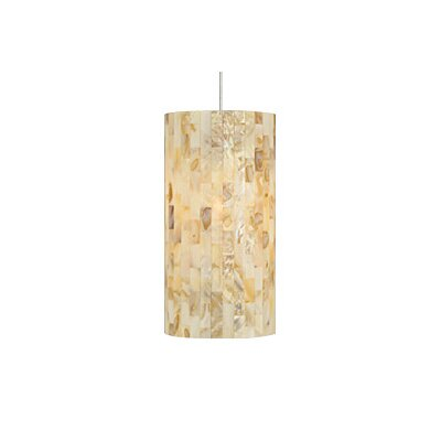 Playa 1-Light Mini Pendant Finish: Satin Nickel, Color: Latte / Natural, Bulb Type: 1 x 50W Halogen