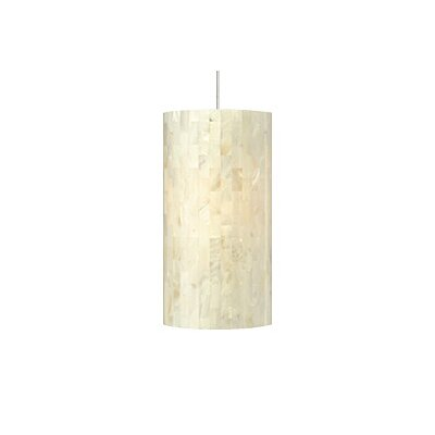 Drinnon 1-Light Mini Pendant Finish: Satin Nickel, Color: White, Bulb Type: 1 x 8W LED