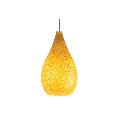 Brulee 1-Light Monopoint Pendant Finish: Antique Bronze, Shade: Amber, Bulb Type: Halogen