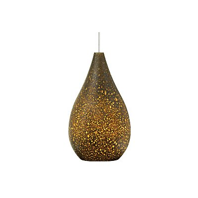 Brulee 1-Light Mini Pendant Base Finish: Satin Nickel, Shade Color: Brown, Bulb Type: 1 x 6W LED