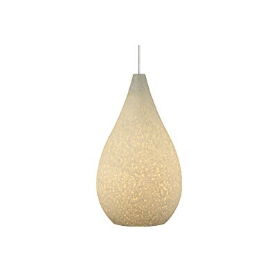 Brulee 1-Light Mini Pendant Base Finish: Antique Bronze, Shade Color: White, Bulb Type: 1 x 6W LED