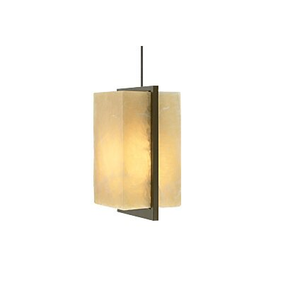 Coronado 1-Light Mini Pendant Finish: Satin Nickel, Color: Onyx, Bulb Type: 1 x 35W Halogen