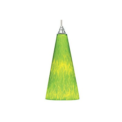 Emerge 1-Light Mini Pendant Finish: Satin Nickel, Color: Green / Lime Green