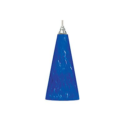 Emerge 1-Light Mini Pendant Finish: Satin Nickel, Shade: Blue-Violet, Bulb Type: Incandescent