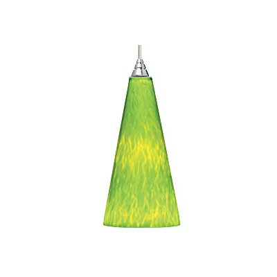 Emerge 1-Light Mini Pendant Finish: Satin Nickel, Shade: Lime Green, Bulb Type: Fluorescent