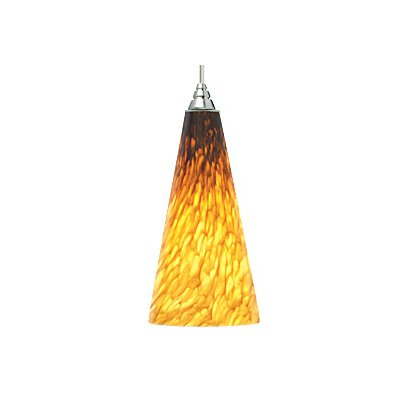 Emerge 1-Light Mini Pendant Finish: Black, Color: Amber / Tahoe Pine Amber