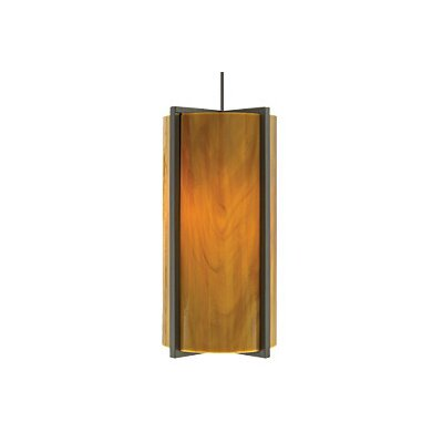 Essex 1-Light Mini Pendant Finish: Satin Nickel, Color: Beach Amber, Bulb Type: 1 x 8W LED