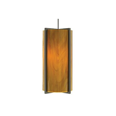 Essex Monopoint 1-Light Mini Pendant Finish: Satin Nickel, Shade Color: Beach Amber, Bulb Type: Halogen