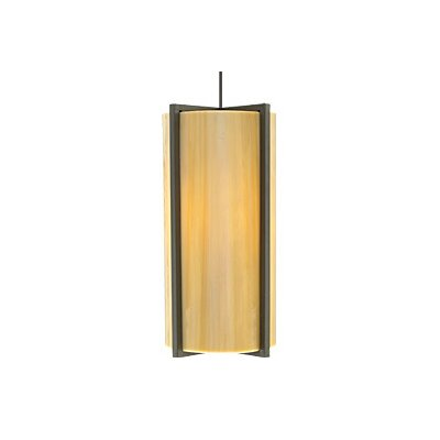 Essex 1-Light Monopoint Pendant Finish: Antique Bronze, Shade Color: Sand, Bulb Type: Halogen