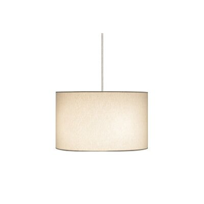 Lexington 4-Light Drum Pendant Finish / Shade / Bulb / Volts: White / Washable Ivory / Fluorescent / 277