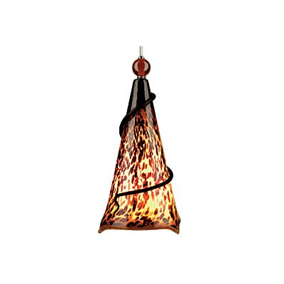 Ovation 1-Light Pendant Finish: Black, Shade: Tortoise Shell, Ball: Clear Ball