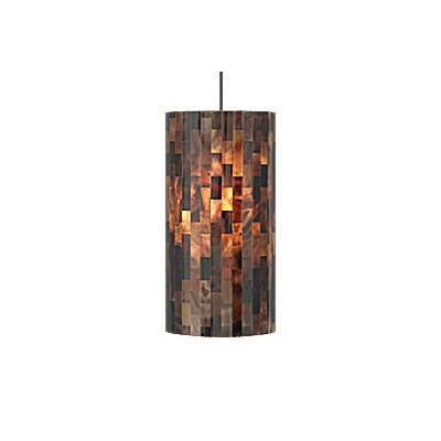 Playa 1-Light Pendant Finish / Shade / Bulb / Volts: Black / Brown / Fluorescent / 120