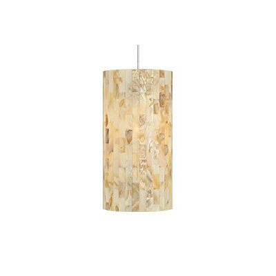 Playa 1-Light Pendant Finish / Shade / Bulb / Volts: Satin Nickel / Natural / Fluorescent / 120