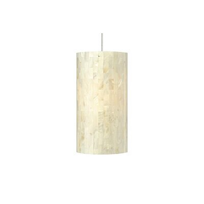 Playa 1-Light Pendant Finish / Shade / Bulb / Volts: Satin Nickel / White / Fluorescent / 120