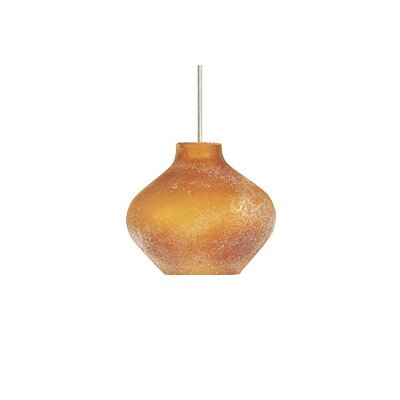 Scavo 1-Light FreeJack Pendant Finish: Satin Nickel, Color: Amber, Bulb Type: 1 x 6W LED