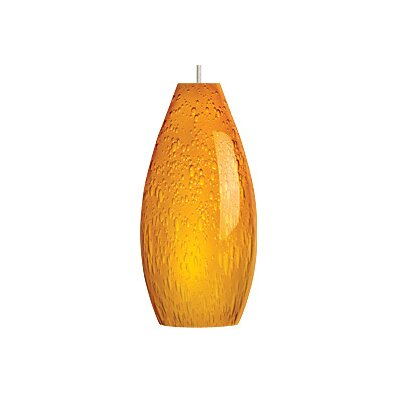 Soda 1-Light Mini Pendant Finish / Shade / Bulb / Volts: Satin Nickel / Amber / Fluorescent / 277