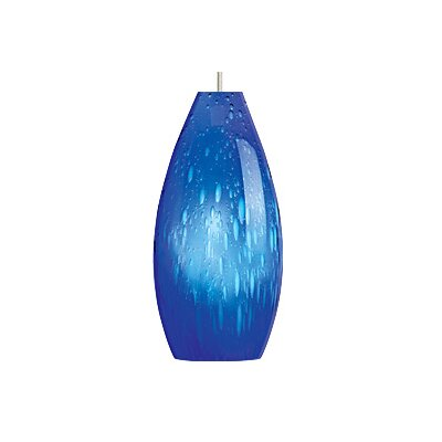 Soda 1-Light Mini Pendant Finish / Shade / Bulb / Volts: Satin Nickel / Blue / Incandescent / 120