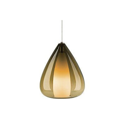 Soleil 1-Light Monopoint Pendant Finish: Antique Bronze, Shade: Olive Green