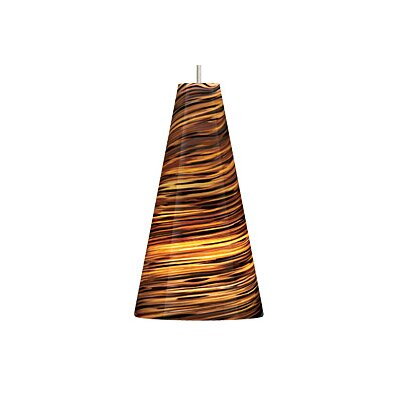Taza 1-Light Mini Pendant Finish / Shade / Bulb / Volts: Antique Bronze / Brown / Fluorescent / 120