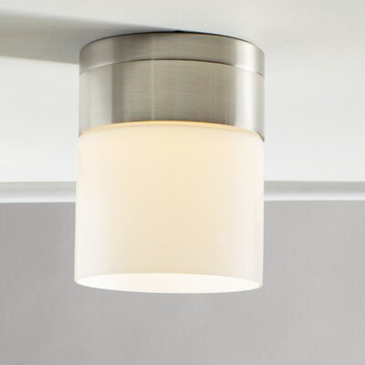 Manette Semi Flush Mount Size: 6.3 H x 5 W x 5 D, Shade Color: White